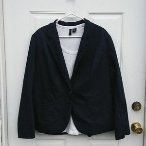 Lane Bryant Navy Blue Blazer Size 24